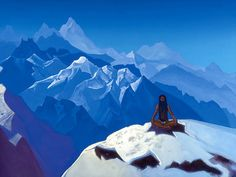Nicholas Roerich. On the Heights (Tummo). 1936