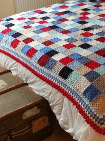 KnitKnatKnotUK: Retro nautical crochet travel blanket with pom pom border - DONE! Tutorial ✿⊱╮Teresa Restegui http://www.pinterest.com/teretegui/✿⊱╮
