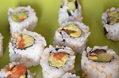 Spicy Salmon Avocado Roll Sushi Recipe