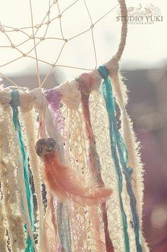 Bohemian Gypsy Dreamcatcher Handmade Romantic Lace by Studio Yuki, $74.00