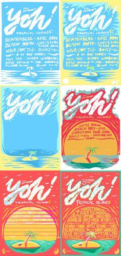 Yoh! Tropical Island by Ian Jepson, via Behance