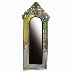 Venetian Style Mirror Tiara MG 080009 >> Venetian Mirror Manufacture Wholesale Size: H 140 cm x 70 cm Distressed Mirror, Surakarta, Vertical Or Horizontal, Venetian Mirrors, Glass, Style, Swag, Drinkware, Stylus