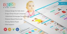 Download and review of Baby & Kids Store eCommerce Woocommerce WordPress Theme, one of the best Themeforest eCommerces themes