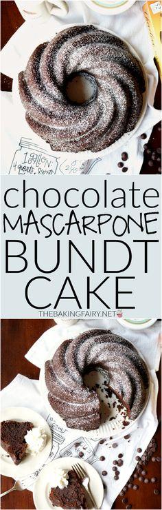 chocolate mascarpone bundt cake | The Baking Fairy