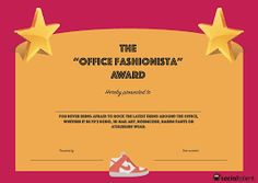 Image result for funny office certificates