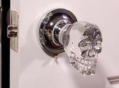 Skull Crystal LED Door Knob