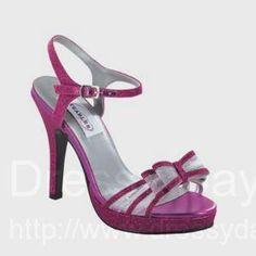 Raven Bridesmaid Shoes in Fuschia Glitter