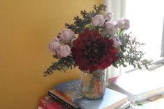 Books and Flowers, yummm