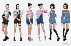 My Sims 4 Blog: Overalls, Accessory Jacket for Females and Ear Muffs for Males & Females by Sims 4 Marigold