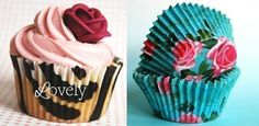 use cute paper cupcake holders. How To Make Cupcakes, Love Cupcakes, Baking Cupcakes, Cupcake Cookies, Paper Cupcake, Cupcake Papers, Cowboy Cupcakes, Pretty Cakes, Creative Food
