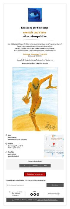 Einladung zur Finissage  mensch und sinne  eine retrospektive Abs, Group, Artist, Catalog, Invitations, Crunches, Abdominal Muscles, Six Pack Abs, Amen