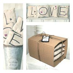 Mini cojines decorativos Love