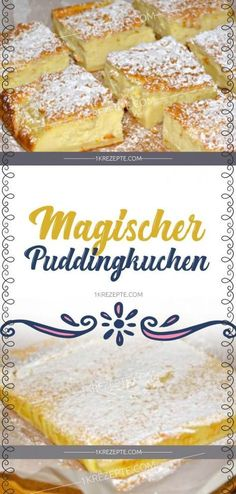 Magic pudding cake- Magischer Puddingkuchen Ingredients for 115 g butter 480 ml milk 4 eggs, separated … - Easy Smoothie Recipes, Easy Cake Recipes, Cookie Recipes, Dessert Recipes, Cheesecake Recipes, Pudding Recipes, Food Cakes, Cakes Originales, New Cake