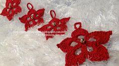 Sapatinhos Para Bebê - Life Baby: Flor de Natal Pingente para Arvore
