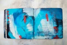 Art Journal update Acrylic in Moleskine journal