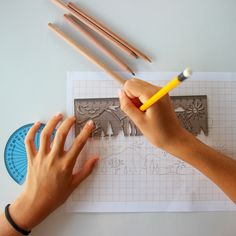 LANDSCAPE  Magical stencil & ruler $9  Draw a variety of beautiful landscapes with the help of this magical ruler. The latest addition to our Skyline Ruler range departs the urban settings of its predecessors and heads into the wild. Hours of creative fun for children and for adults!