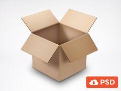 Realistic Opened Cardboard Box PSD - http://www.welovesolo.com/realistic-opened-cardboard-box-psd/