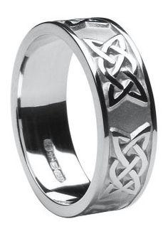 Celtic Wedding Band, Silver--$85