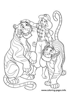 Print Jasmine Tamed Tigers Disney S53ce Coloring Pages