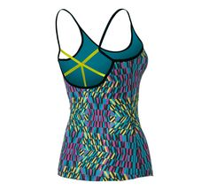 Womens ASICS Illusion Print Tank Sport Top Bras at Road Runner Sports