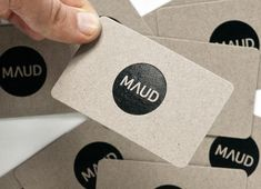 "Designed by Hampus Jageland ""Maud is an award winning design studio based in Sydney, Australia. They continually strive for creative excellence through consultation, collaboration and detailed execution. Graphic Design Branding, Stationery Design, Corporate Design, Logo Design, Corporate Branding, Business Card Design, Creative Business, Business Cards, Graphic Projects"
