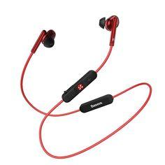 Castile in-Ear Baseus Encok S30 au un design rotund si o textura ferma, astfel purtatul lor devine o placere. Suporta apeluri telefonice si ajustare volum, iar versiunea Bluetooth 5.0 face conexiunea intre casti si device mult mai rapida. Waterproof Headphones, Hifi Stereo, Headphone With Mic, Bluetooth, Stuff To Buy, Bass, Sound Effects, Sport, Color Red