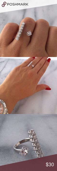 Gorgeous Crystal Ring Very fashionable AAA high quality Austrian zirconia triple platinum plated Ring.                                        Size : 6 and 7 Jewelry Rings