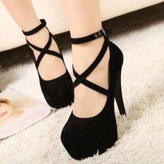 Women 's Ankle Strap Platform Stilleto Heels