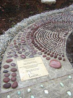 Reflexology foot path.  My next garden project.