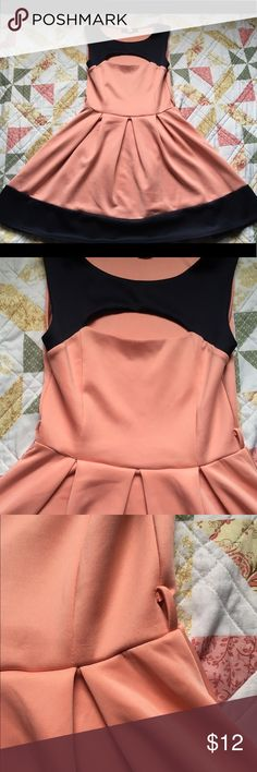 🎊🌸Girly 👗 dress Expose top of chest, super cute. Used to have a belt but broke. Only used once, unknown brand . It has something in the back you can't see unless you get really close to used. Has a small marking where the belt used to be but can be cover with another belt. Dresses