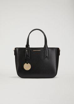 3b446dfd47e3 Emporio Armani Handbag With Logo Charm Emporio Armani