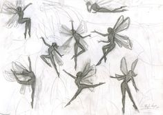 burdge: Fairy Silhouettes circa years old Fairy Drawings, Art Drawings Sketches, Cute Drawings, Drawing Reference Poses, Drawing Poses, Elfen Tattoo, Fairy Sketch, Arte Grunge, Fairy Silhouette