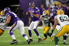 Minnesota Vikings quarterback Sam Bradford throws a pass during the first half of an NFL football game against the Green Bay Packers, Sunday, Sept. 18, 2016, in Minneapolis.