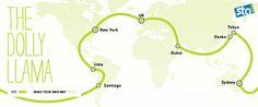 Dolly Llama Round the World Route | STA Travel | The Dolly Llama