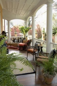 Traditional southern porch
