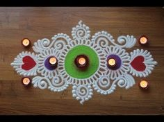 Rangoli designs are an integral part of the Indian culture and is a must in every indian festival. The purpose of rangoli is decoration, and it is thought to. Easy Rangoli Designs Videos, Easy Rangoli Designs Diwali, Indian Rangoli Designs, Rangoli Designs Latest, Simple Rangoli Designs Images, Rangoli Designs Flower, Free Hand Rangoli Design, Rangoli Border Designs, Small Rangoli Design