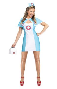 Pin Up Nurse Costume | Can you turn with this uniform you into a sexy night nurse | horror-shop.com