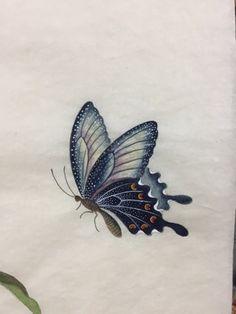 제가 체본용으로 민화를 그리고 있다고 말씀드렸는데요, 그 후 몇개를 더 그렸는데, 보여드릴께용^^지난 시... Butterfly Painting, Butterfly Wallpaper, Butterfly Art, Lotus Kunst, Lotus Art, Korean Painting, Butterfly Photos, Iranian Art, Insect Art