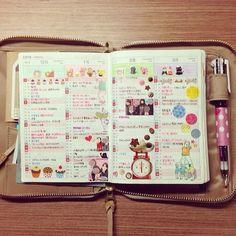画像 : 【画像大量】ほぼ日手帳の使い方【随時更新】 - NAVER まとめ Hobonichi months at a glance idea