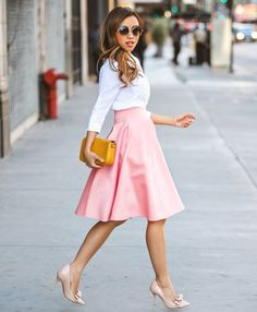 New Fashion Stylish Lady Women's Casual A-Line Pleated Midi Skirt LOVE for spring