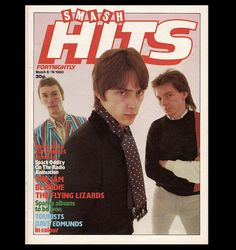 The Jam, plainly delighted to be on the cover of Smash Hits