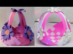 How to Make Plastic Bottle & Foam Basket in Easy Way Kids Crafts, Origami Bookmark, Easy Peasy, Projects To Try, Tote Bag, Handmade Gifts, Bags, Places, Paper Engineering