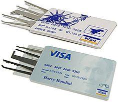 $29. CREDIT CARD LOCK-PICK SET, HOUDINI VERSION