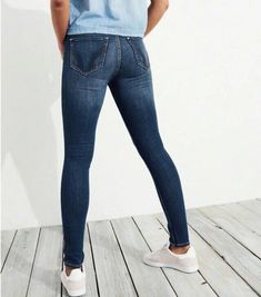 Hollister Slim Fit Jeans High Waisted on Mercari Tight Jeans Men, Superenge Jeans, Sexy Jeans, Super Skinny Jeans, High Jeans, Hollister Jeans, Gym Outfit Men, Girls Fall Outfits, Athletic Fashion