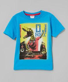Look what I found on #zulily! Blue & Yellow 'DJ Rex' Tee - Infant, Toddler & Boys #zulilyfinds