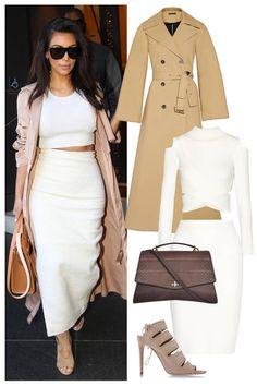 Shop Kim Kardashian's minimalist street style look.