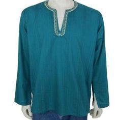 Shirts from India - Mens Casual Cotton Kurta (Apparel)  http://www.picter.org/?p=B007BJRDN0