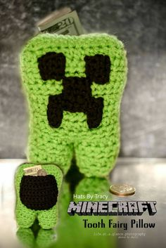 Minecraft Tooth Fairy Pillow, Creeper, Superman, Baymax, Minions, Toddler Gifts, Toothless, Disney Character Pillows, Teeth, by HatsByTracy on Etsy