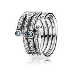 5fad9ec36 PANDORA | Shimmering Ocean, Frosty Mint & Clear CZ Pandora Charms, Pandora  Jewelry,