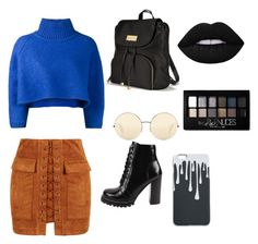 """""""🌀💎🖤💙"""" by ahriannap on Polyvore featuring WithChic, Vika Gazinskaya, Jeffrey Campbell, Victoria's Secret, Victoria Beckham and Maybelline"""